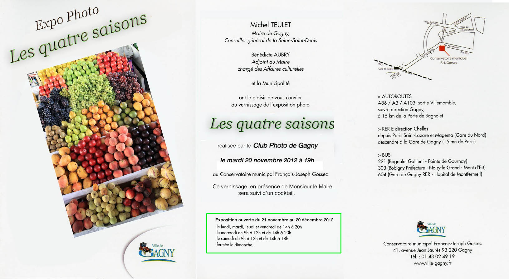 Exposition les 4 saisons Gagny