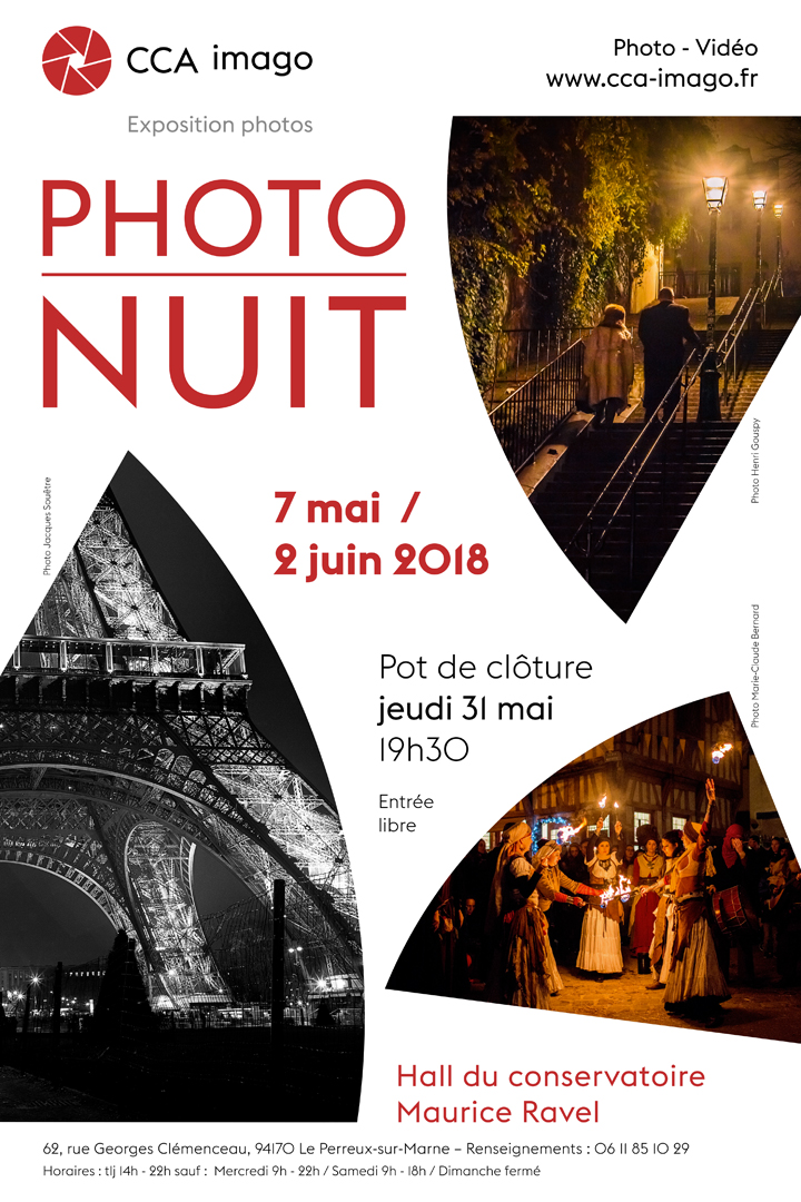 Affiche de l'exposition Photo-Nuit, association CCA imago
