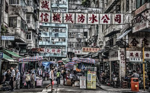 """Mongkok District""   Jean-Marc TRUCHET"